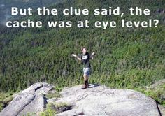 When the geocache clue isn't that helpful. :)   -- Repinned by #RockyMtnDGS