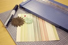 What a great way to use up my extra embellishments and papers!