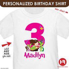 Little Mermaid Birthday Shirt or Bodysuit  by HeatherRogersDesigns, $16.50