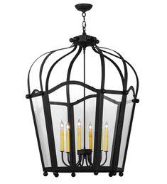 Inch W Citadel 6 Lt Pendant - Custom Made Lantern Pendant, Pendant Lighting, Light Pendant, Chandelier, Lighting Sale, Lighting Design, Ceiling Light Fixtures, Ceiling Lights, Antique Iron