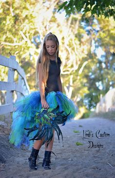 Peacock Masquerade Bustle Style Tulle Tutu with by sweethearttutus, $90.00
