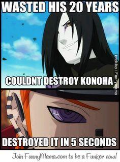 Naruto - Orochimaru vs. Pein Lol...talk about comparision in strength! :P Lmfao