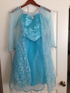 Elsa dress .. This would be a good Halloween outfit for her