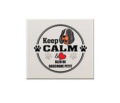 BLEU DE GASCOGNE PETIT DOG Keep Calm Love 6'x6' Ceramic Tile Backsplash Accent >>> Click image for more details. (This is an affiliate link) #KitchenBacksplashDIY