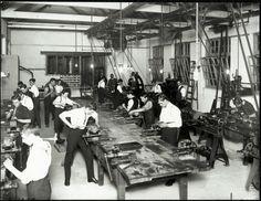Balmain Trade School - engineering workshop 1915