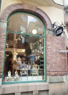 Sarah's second store called Storegarden 2 is in BORÅS, in Sweden, a stunning shop selling contemporary with classic traditional Swedish design.