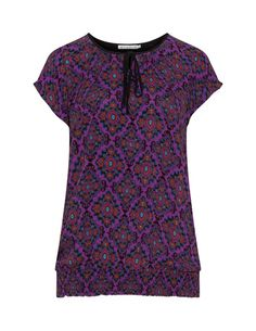 All over print top  in Black / Purple designed by Studio to find in Category Tops at navabi.de