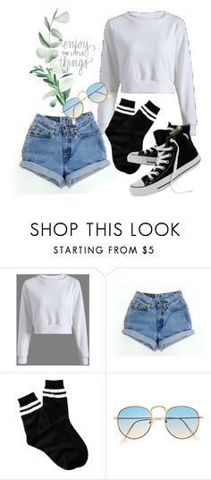 """""""Teenhood"""" by yabiog on Polyvore featuring Levi's, Free Press and Converse"""