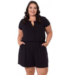 29 Macacão para Gordinhas | Macacões Incríveis Você vai AMAR! Looks Plus Size, Moda Plus Size, Young Justice, Amanda, Ideias Fashion, Rompers, Dresses, Plus Size Jumpsuit, Women's Plus Size Outfits