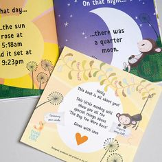 This Personalised The Day You Were Born Book makes unique baby gift and can be treasured for years!