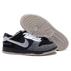 fc62c371ea76 Nike Dunk SB 2012 New Low Cut Mens Shoes silver black dark blue
