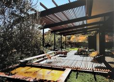 Mid Century Modern Home Exterior | Across the day the sunlight created suggestive and complex geometries ...