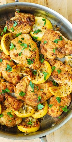 Make this delicious lemon chicken recipe for a great weeknight meal that is quick and easy to make. This crowd-pleasing dish is loaded with tasty flavor and only takes to make. Eat clean and healthy with this chicken recipe everyone will love. Clean Eating Recipes, Healthy Eating, Cooking Recipes, Healthy Recipes, Grilling Recipes, Clean Foods, Healthy Meals, Yummy Recipes, Healthy Chicken