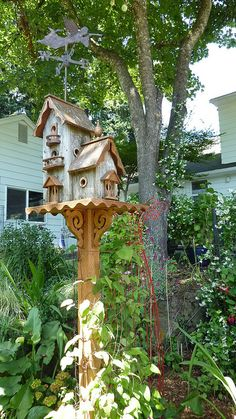 Elevated garden birdhouse - The Garden Conservancy - Portland Area Open Day | Flickr - Photo Sharing!