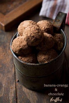 Banana, Orange and Chocolate Truffles | www.diethood.com | #chocolate #recipe…