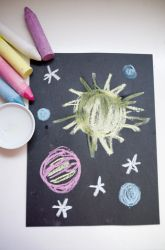 Chalk and Water Outer Space Creation