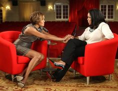 Whitney Houston with Oprah Winfrey on August 31, 2009. Associated Press photo.