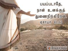 பயப்படாதே, நான் உனக்குத் துணைநிற்கிறேன் என்று சொல்லுகிறேன். ஏசாயா 41:13