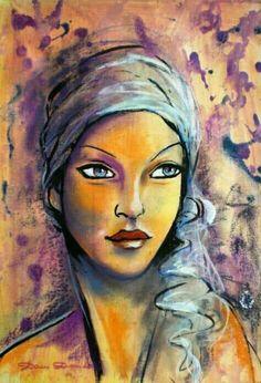 Risultati immagini per dam domido artiste peintre Kunstjournal Inspiration, Art Journal Inspiration, Abstract Portrait, Portrait Art, Urbane Kunst, Painting People, People Art, Face Art, Art Faces