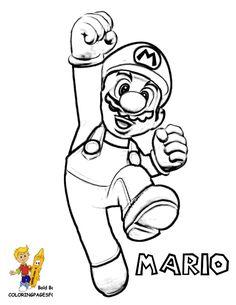 Las 43 Mejores Imágenes De Mario Bros Para Colorear En 2018 Mario