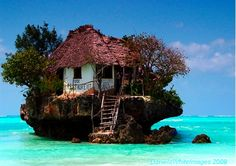 Rock Restuarant in Zanzibar. Amazing.