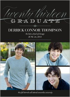 Elegant Moment Graduation Announcement I like that it is an announcement without it needing to be an invitation.