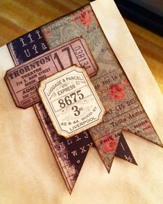 Coming soon!! A journal made from a very cool old book. This journal you guys is wrinkly and crinkly and sooo vintage looking!…