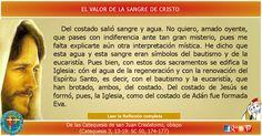 MISIONEROS DE LA PALABRA DIVINA: REFLEXIÓN -  EL VALOR DE LA SANGRE DE CRISTO
