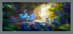This month, Titan are releasing The Art of Rio, collecting over 300 pieces of concept art, character sketches, storyboards and digital paintings from Rio a Rio 2, Godzilla, Rio Movie, Nathan Fowkes, Blue Sky Studios, Color Script, Character Sketches, Character Design, Environment Concept Art