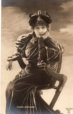 Vintage Card Sarah Bernhardt Actress