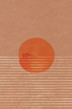 Orange Sun In The Sea Canvas Wall Art by Whales Way | iCanvas Canvas Wall Art, Canvas Prints, Canvas Frame, Orange Home Decor, Orange House, Burnt Orange Color, Floating Frame, Traditional Decor, Dark Backgrounds