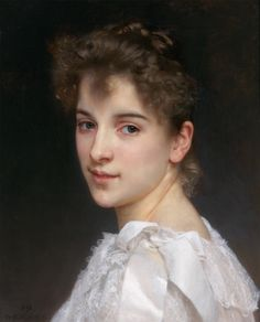 William Adolphe Bouguereau Portrait of Gabrielle Cot print for sale. Shop for William Adolphe Bouguereau Portrait of Gabrielle Cot painting and frame at discount price, ships in 24 hours. William Adolphe Bouguereau, Figure Painting, Painting & Drawing, Pierre Auguste Cot, French Artists, Portrait Art, Woman Portrait, Portrait Paintings, Oeuvre D'art