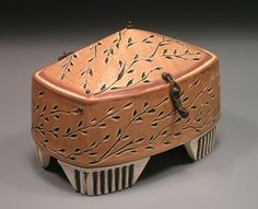 "Julie Olson - Rectangular Box with Hinged Lid, 6"" x 4"" x 4"""