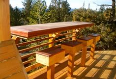 deck with built-in bar
