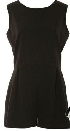 Black romper Black Romper, Rompers, Dresses, Fashion, Vestidos, Moda, Fashion Styles, Romper Clothing, Romper Suit