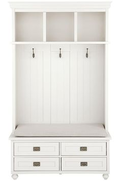 Mudroom made easy. This locker storage makes storing coats, hats, scarves, shoes and more a breeze. #organizewithhdc
