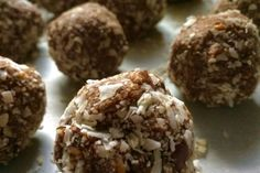 Gluten free, dairy free, refined sugar free - hazelnut, date and raw cacao energy bites recipe