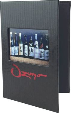 Custom Drink Menu Cover by Menu Designs. Create an attractive arrangement of your menu items with menu covers from Menu Designs. We have a large selection of menu covers made from the finest materials. Whether you're a café interested in menu boards or a five star dining establishment who's looking for leather menu covers, we're sure you'll find the perfect menu covers for your restaurant.