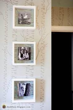 abodelove.blogspot.com #nursery #woodland #birch #stencil