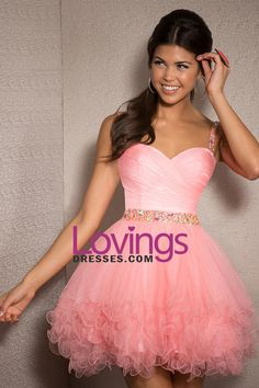 2015 Homecoming Dresses Sweetheart Tulle With Ruffles And Beading Mini