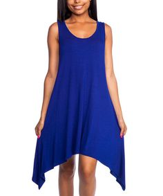 Love this Royal Blue Sleeveless Sidetail Dress on #zulily! #zulilyfinds