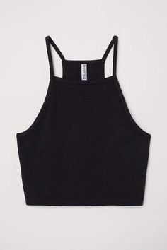 31644956ae H M Short Camisole Top - Black
