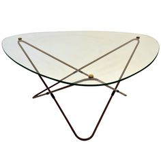 | Mid Century Triangular Coffee Table