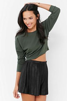 Silence + Noise Modern Cropped Top - Urban Outfitters