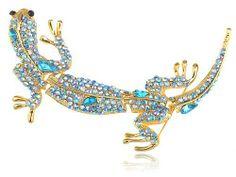 Leopard Gecko Gila Indicolite Blue Zircon Crystal Rhinestone Lizard Pin Brooch Alilang,http://www.amazon.com/dp/B003U5Z64W/ref=cm_sw_r_pi_dp_cHnhtb0035GVR2EK