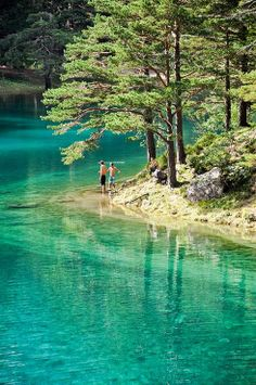 Green Lake in Upper Styria, Austria