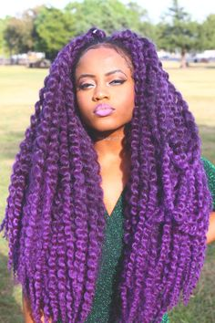 Doll hair inspiration: Purple curly hair.