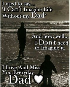 I miss my dad every single day. I miss him the most around Christmas.