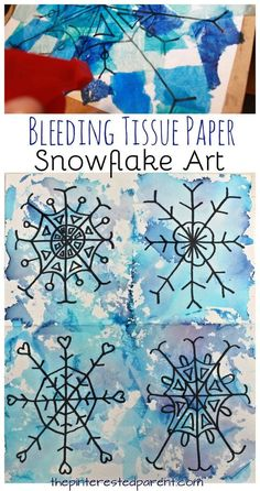 These tissue paper snowflakes are BEAUTIFUL! What a FABULOUS Christmas craft idea for the kids!