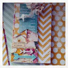 Notepad covered with Heidi Swapp Sugar Chic paper